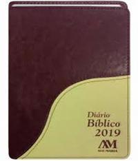 DIARIO BIBLICO 2019 - CAPA LUXO VINHO