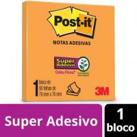 BLOCO ADESIVO 76X76 90FLS LARANJA POST-IT 654 - HB004389316