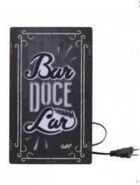 Caixa De Luz Madeira Bar Doce Lar - 24652