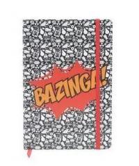 CADERNETA THE BIG BANG THEORY BAZINGA FD PRETO/ BRANCO A5  - 43216