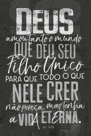 BÍBLIA NVT LETRA NORMAL - JOÃO 3.16 (CHUMBO)