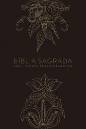 BÍBLIA NVT LN INDIAN FLOWERS DOURADA