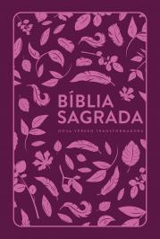 BÍBLIA NVT LETRA NORMAL - FOLHAS PINK