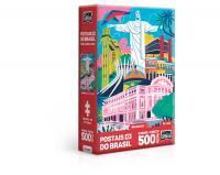 QUEBRA CABECA POSTAIS DO BRASIL - MONUMENTO - 500 PECAS NANO- TOYSTER