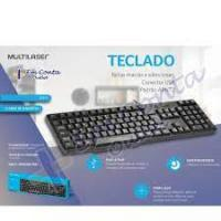 TECLADO BASICO SLIM PRETO USB MULTILASER - TC213