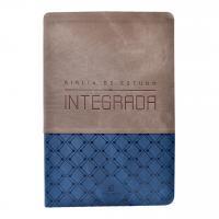 BÍBLIA DE ESTUDO INTEGRADA, NVI, COURO SOFT, AZUL E GRAFITE